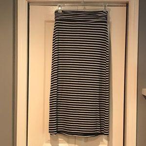 J. Crew Jersey Maxi Skirt XS Stripes